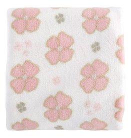 Boxed Plush Fleece Blanket - Pink Posies