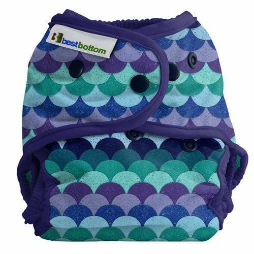 Best Bottom - Diaper Cover Snap One Size - Mermaid Tail
