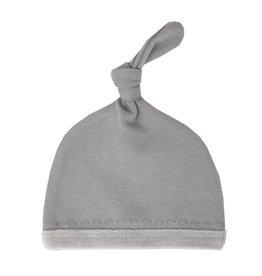 Loved Baby Loved Baby - Velveteen Top-Knot Hat - Light Gray