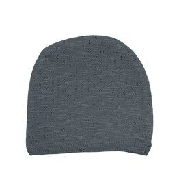 Loved Baby - Pointelle Hat - Moonstone