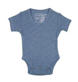 Loved Baby - Pointelle Wrap Bodysuit - Pool