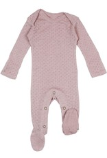 Loved Baby - Pointelle Footie - Thistle
