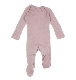 Loved Baby Loved Baby - Pointelle Footie - Thistle