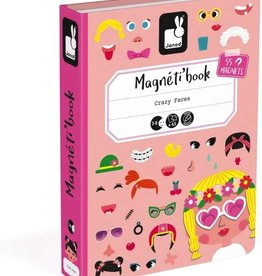 Janod Girls Crazy Faces Magneti'book