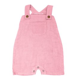 Loved Baby Loved Baby - Organic Muslin Overall - Peony