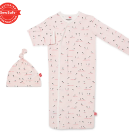 Magnetic Me Magnetic Me - Modal Magnetic NB Gown & Hat - Baa Baa Baby Pink