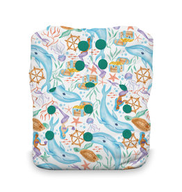 Thirsties Thirsties - Natural One Size AIO - Snap - Mermaid Lagoon