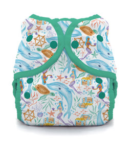 Thirsties Thirsties - Duo Wrap - Size 1 - Snap - Mermaid Lagoon