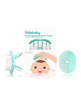 FridaBaby Infant Head-Hugging Hairbrush + Styling Comb Set