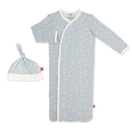 Magnetic Me Magnetic Me - NB Gown & Hat - Fly Like a Seagull