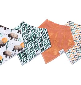 Copper Pearl Copper Pearl - Baby Bandana Bib 4-pack - Bison