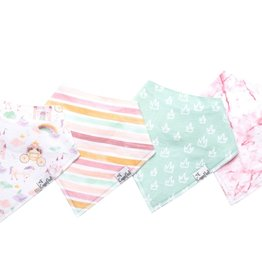 Copper Pearl Copper Pearl - Baby Bandana Bib 4-pack - Enchanted