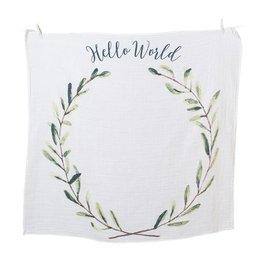Lulujo Baby's First Year Blanket & Photo Card Set - Hello World