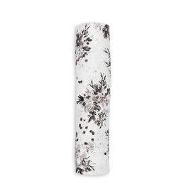 Lulujo Muslin Swaddle - Black Floral
