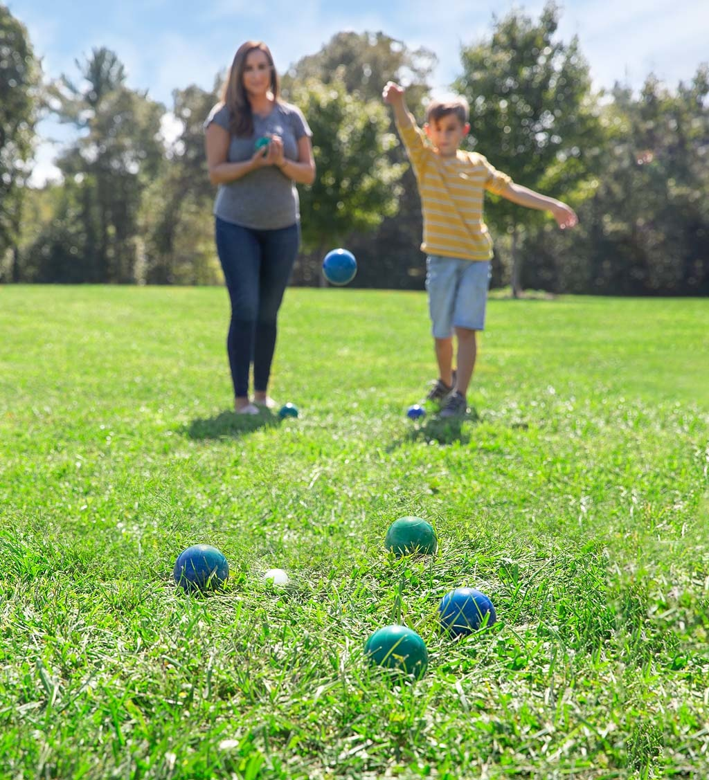 Hearthsong Bocce Ball Lawn Bowling Game Set