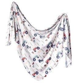 Copper Pearl Copper Pearl - Knit Swaddle Blanket - Jo