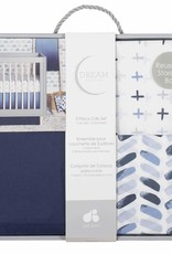 Gerber Gerber - 3pc Crib Sheet/Skirt Set Ombre