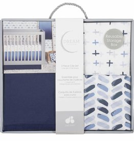Gerber Gerber - 3pc Crib Sheet/Skirt Set Ombre