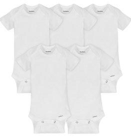 Gerber Gerber - White Organic Short Sleeve Onesies 5 pack