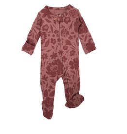 Loved Baby - Zipper Footie - Carnation Mauve