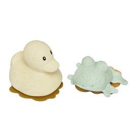 Hevea Duck & Frog Bath Toy Gift Set