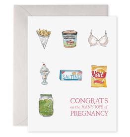 Preggie Snacks Greeting Card