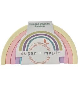 Sugar + Maple Silicone Stacking Rainbow 6pc