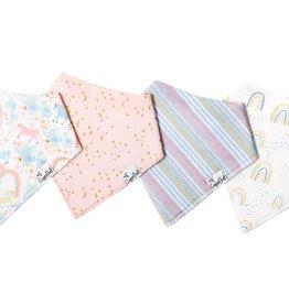 Copper Pearl Copper Pearl - Baby Bandana Bib 4-pack - Whimsy
