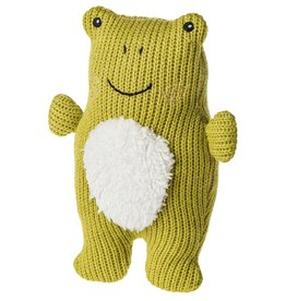Mary Meyer Knitted Nursery Rattle Toy Frog