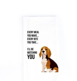 Wildwood Landing Every Bite You Take - Beagle - Tea Towel