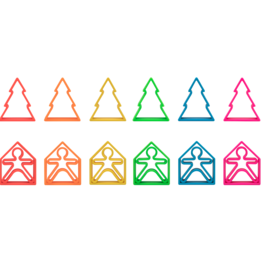 DENA Neon Kids, House & Tress - 6 pack Assorted colors