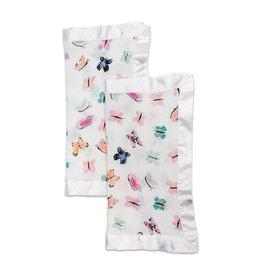 Lulujo LLJ Cotton Muslin Security Blanket Butterfly