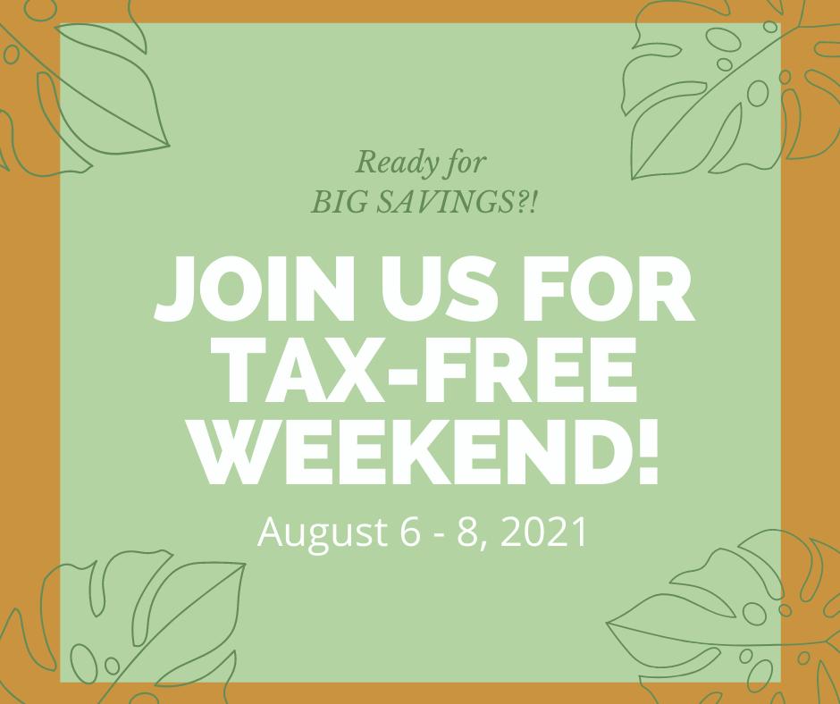 Oklahoma's Tax Free Weekend 2021