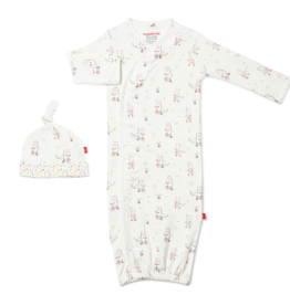 Magnetic Me Magnetic Me - Organic Cotton NB Gown & Hat - Welcome Baby