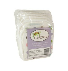 Bamboo/Cotton Snap In Inserts 6pk