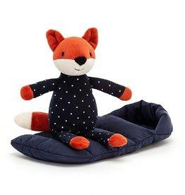 Jellycat Sleeping Bag Snuggler Fox