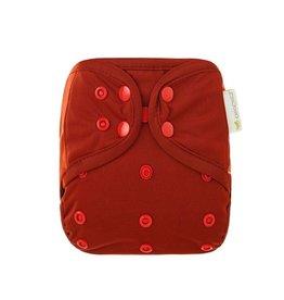 OsoCozy Newborn Diaper Cover - Deep Red