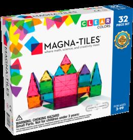 Magna-Tiles Magna-Tiles - Clear Colors 32 Piece Set