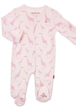 Magnetic Me Magnetic Me - Organic Cotton Footie - Pink Giraffe