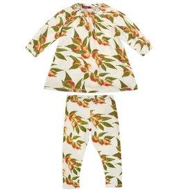 Milkbarn Milkbarn - Dress & Legging Set - Peaches