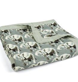 Milkbarn Milkbarn - Muslin Big Lovey - Grey Elephant