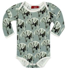 Milkbarn Milkbarn - Organic One Piece - Grey Elephant