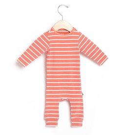 Rags Essentials Infant Rag Romper - Terracotta Stripe
