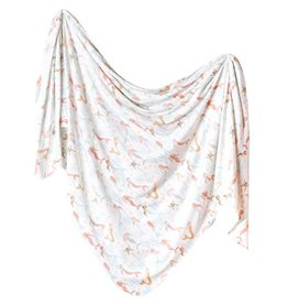 Copper Pearl Copper Pearl - Knit Swaddle Blanket - Coral