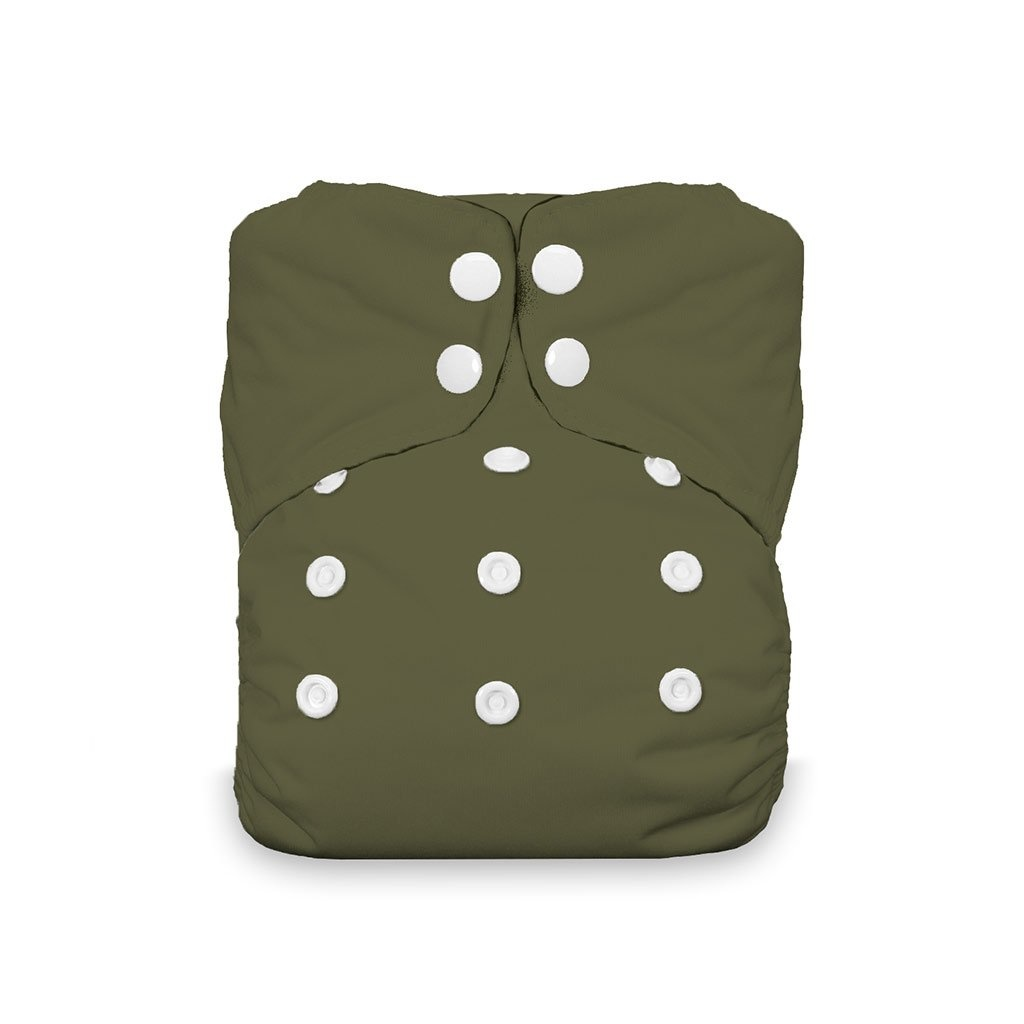 Thirsties Thirsties - Natural One Size AIO Snap - Olive