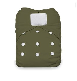 Thirsties Thirsties - Natural One Size AIO H&L - Olive