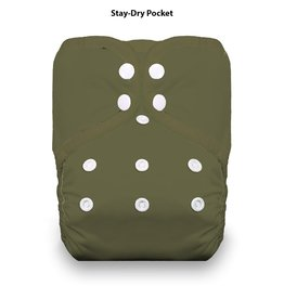 Thirsties Thirsties - One Size Pocket Diaper Snap - Olive