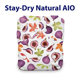 Thirsties Thirsties - Stay Dry Natural One Size AIO Snap - Fig