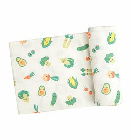 Angel Dear Swaddle Blanket - Veggie Family Green