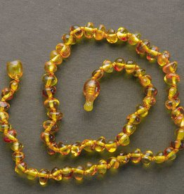 "Lemon Vines Lemon Vines 11"" Amber Necklace"